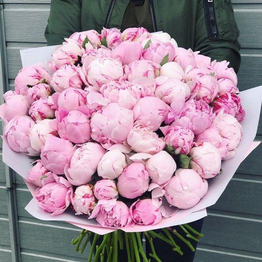 51 пион Сара Бернар: букеты цветов на заказ Flowwow