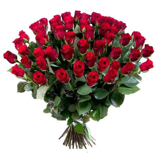 51 элитная красная роза
