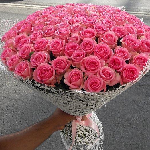 Букет из 101одной голландский роза розовая: букеты цветов на заказ Flowwow
