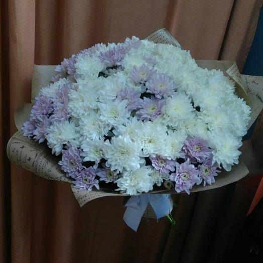 Букет из 19 кустовых хризантем: букеты цветов на заказ Flowwow