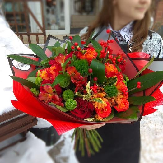 Букет гранатовый: букеты цветов на заказ Flowwow