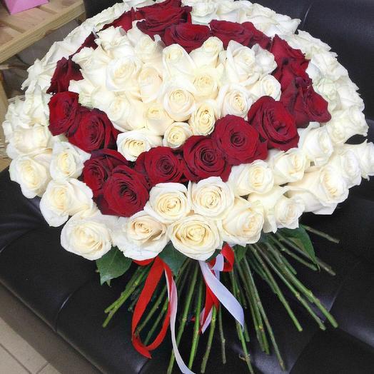 Бело-красное сердце