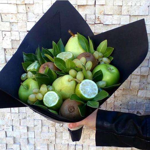 Фруктовый букет «Зелень»: букеты цветов на заказ Flowwow