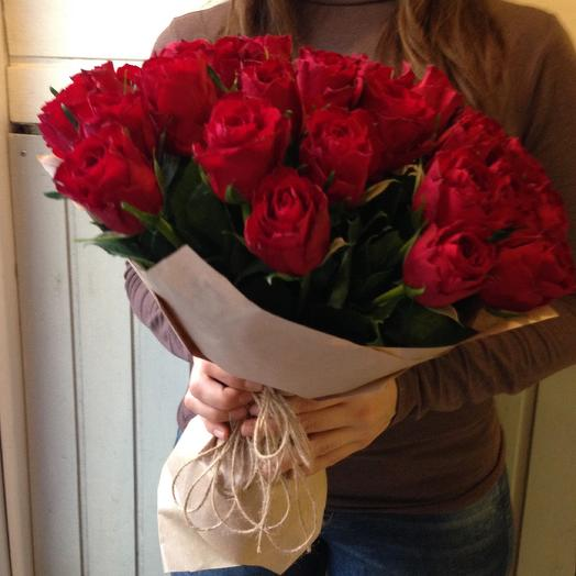 Букет из красных роз 50 см: букеты цветов на заказ Flowwow