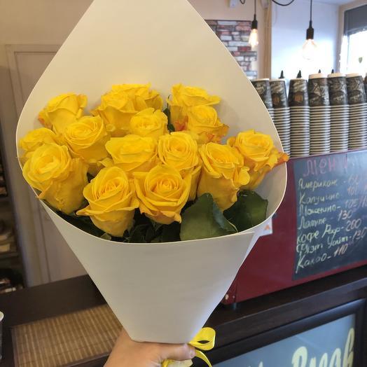 19 жёлтых роз