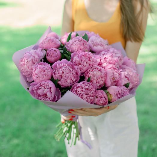 """Букет """"25 Пионов"""": букеты цветов на заказ Flowwow"""