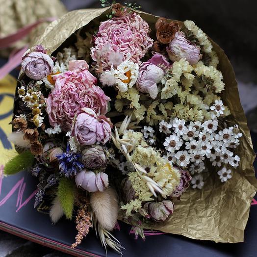 Авторский букет из сухоцветов: букеты цветов на заказ Flowwow