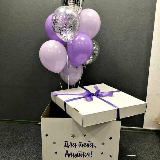 Коробка 4 с воздушными шарами