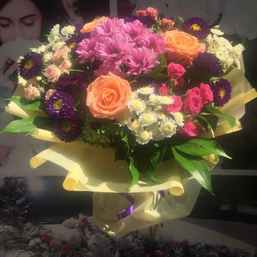 Букет «Яркая Улыбка»: букеты цветов на заказ Flowwow