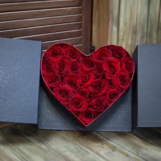 BOX 25 роз: букеты цветов на заказ Flowwow
