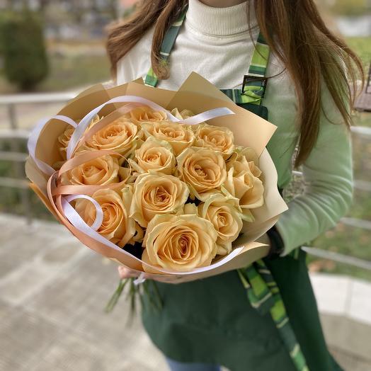 Букет «Кремовое наслаждение»: букеты цветов на заказ Flowwow