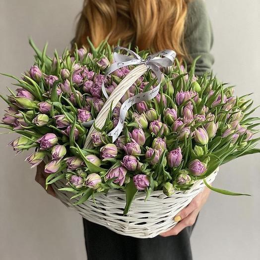 201 пионовидный тюльпан: букеты цветов на заказ Flowwow