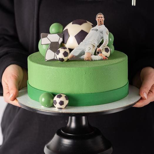 Торт футбол для мальчика без мастики