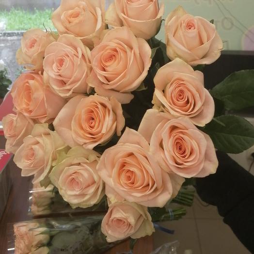 15 Роз нежно розовые 50 см: букеты цветов на заказ Flowwow