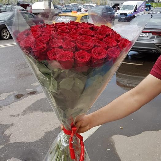Букет из 51 красной розы 🌹