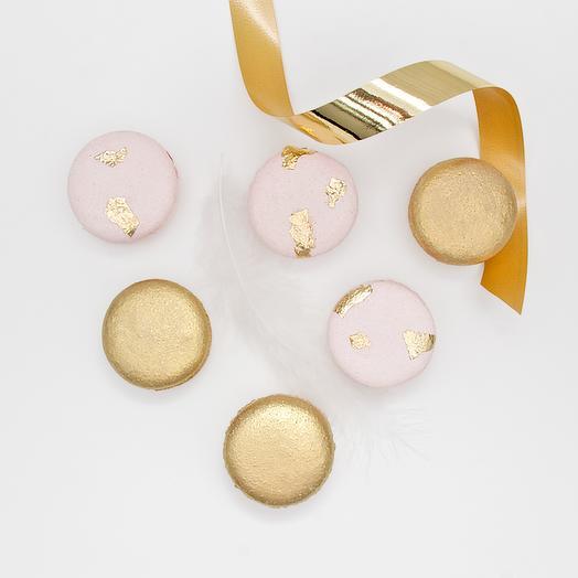 "Набор пирожных макарон ""Pink and gold"" - 6 шт"