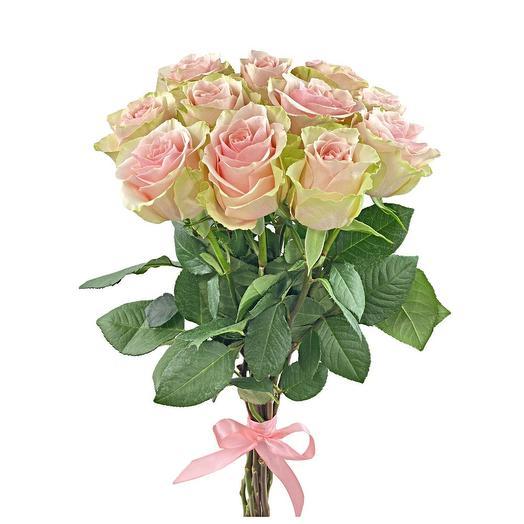 Охапка розовых роз 11 шт