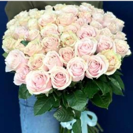 51 роза Пинк Мондиаль