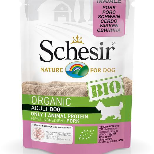 Schesir Bio консервы для собак с свининой 85 г