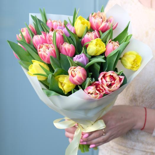 Микс из пионовидных тюльпанов (21 шт)