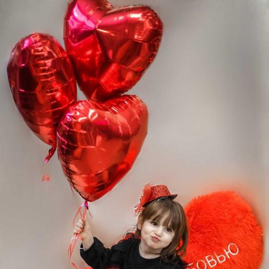 Гелевый шарик «Сердце»