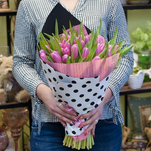 Букет из тюльпанов Деликатный