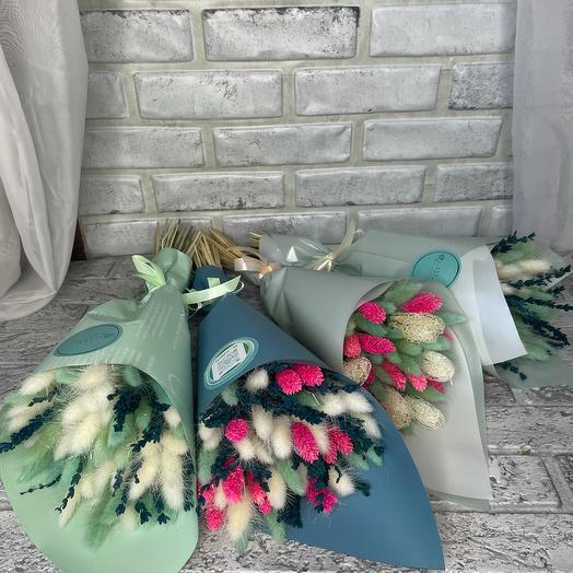 Букеты из сухоцветов в ассортименте