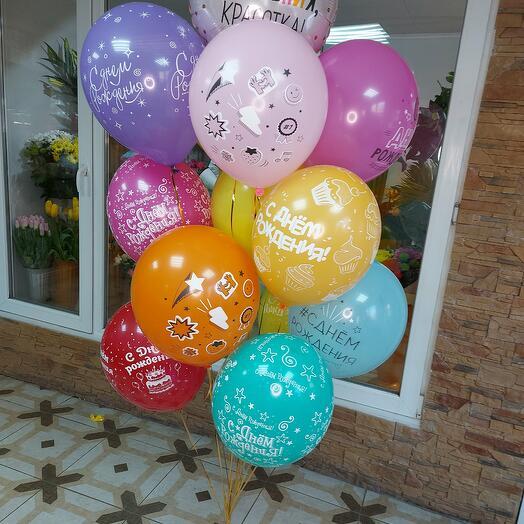"""Набор шаров  """"Днем Рождения, красотка"""""""