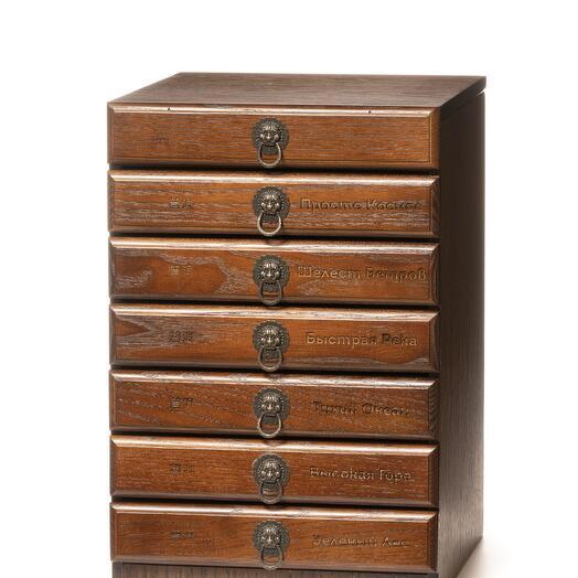 Подарочный набор Эксклюзивная Коллекция пуэров блинов в деревянном ящике ЧаЕ