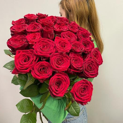 Букет красных роз 70см
