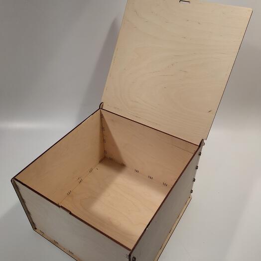 Коробка с крышкой 40x25x40см коробка из фанеры, коробка для хранения, коробка для подарка