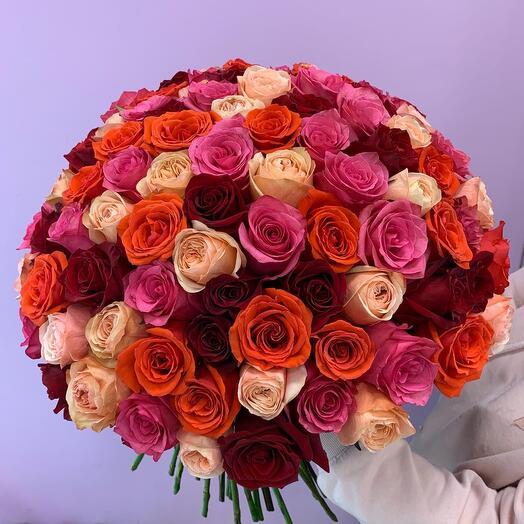 Букет из 101 Эквадорской розы