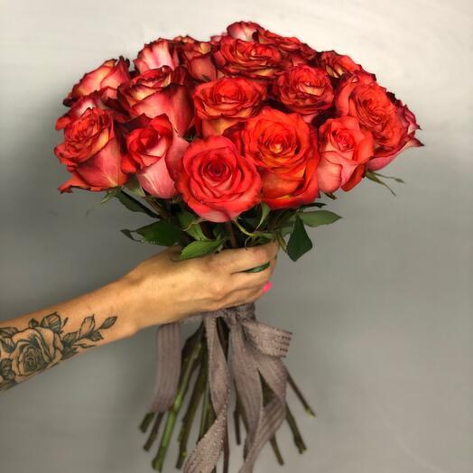 Букет моно 21 роза