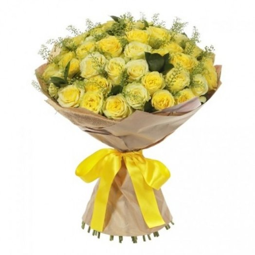 35 yellow roses: flowers to order Flowwow
