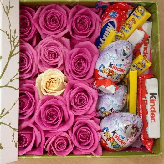 Коробка Киндер сюрприз: букеты цветов на заказ Flowwow