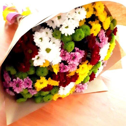 Шикарный букет из 25 веточек хризантем Все краски осени