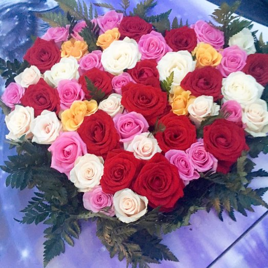 """Композиция """"Моё сердце"""": букеты цветов на заказ Flowwow"""