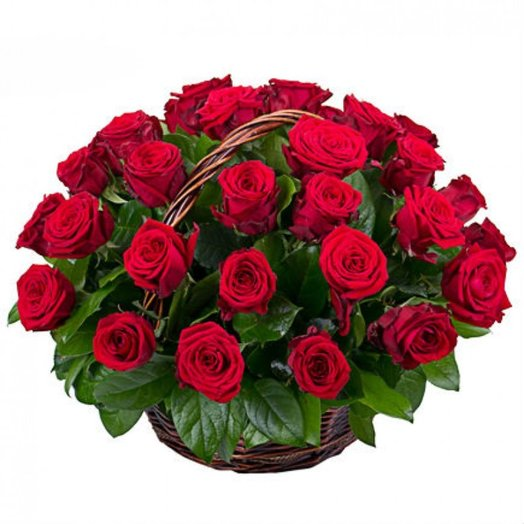 "Корзина ""35 алых роз"""
