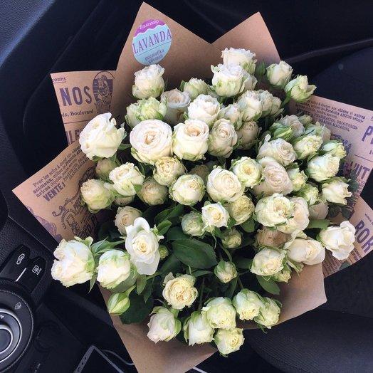 """Букет """"Pina Colada"""" из пионовидной розы: букеты цветов на заказ Flowwow"""