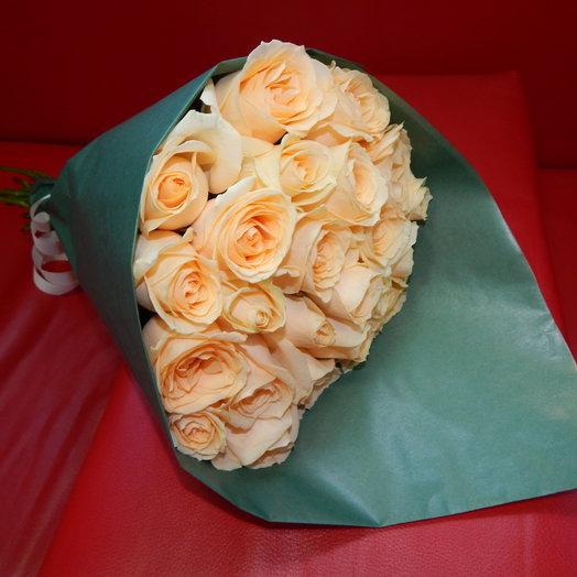 21 роза Пич Аваланж: букеты цветов на заказ Flowwow