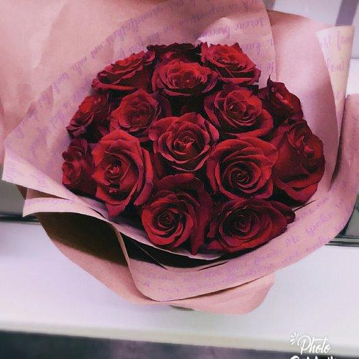 Классический букет из 15 красных роз: букеты цветов на заказ Flowwow