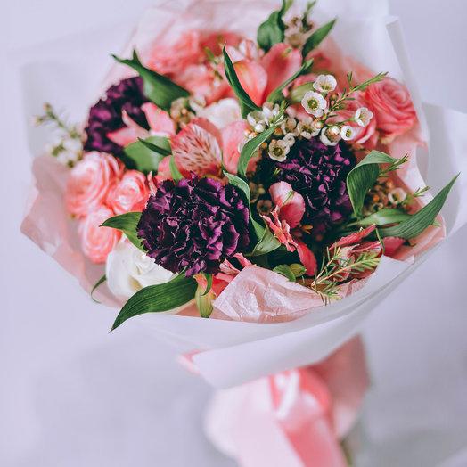 Идеальное розовое утро: букеты цветов на заказ Flowwow