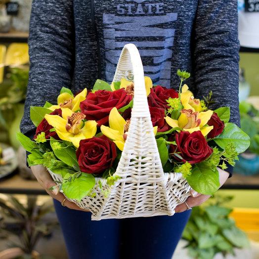 "Корзина из цветов ""Сентябрь"": букеты цветов на заказ Flowwow"