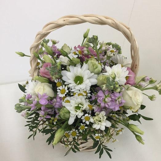 Летняя корзинка : букеты цветов на заказ Flowwow
