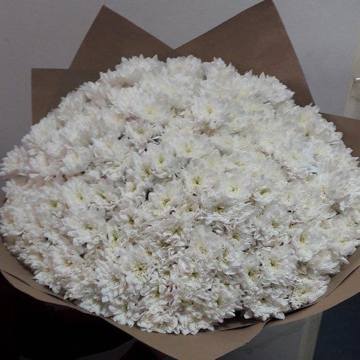 101 одна ромашки куставой хризантем: букеты цветов на заказ Flowwow