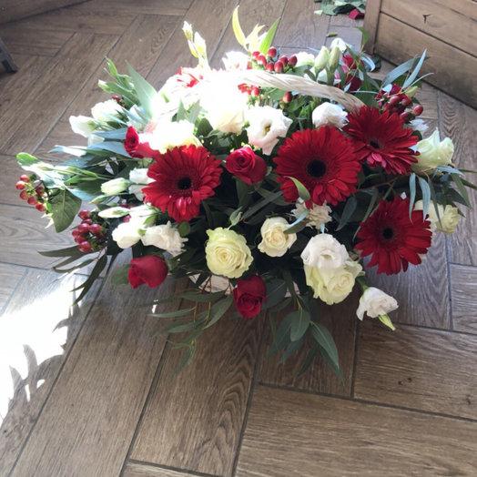 """Корзина цветов """"Вдохновение"""""""