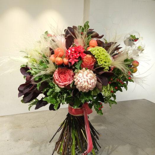 Гвоздика и роза: букеты цветов на заказ Flowwow