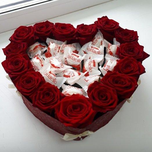 Коробка с розами для любимой