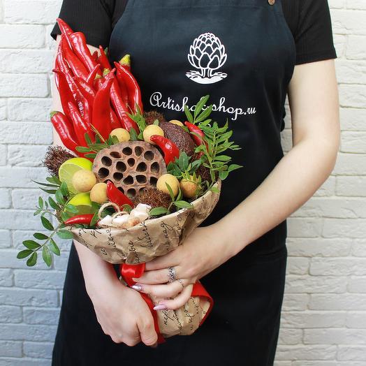 Овощной букет из чили: букеты цветов на заказ Flowwow