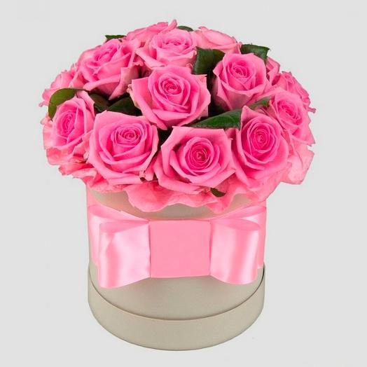 Коробка Розовая мечта: букеты цветов на заказ Flowwow